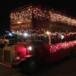 Hop on our double-decker bus for a 2 minute ride, and take in the beautiful lights of our magnificent Christmas Wonderland enroute to Santa's Workshop!